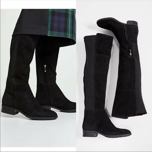 Sam Edelman Pam Black Suede Over The Knee Boots 7